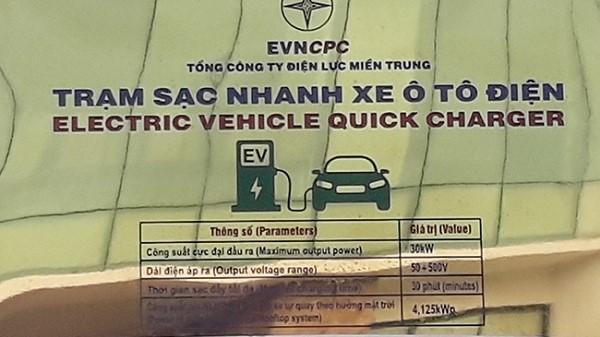 Đà Nẵng có trạm sạc điện nhanh cho ô tô đầu tiên tại Việt Nam