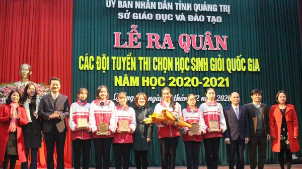 Đoàn học sinh Quảng Trị đoạt 28 giải học sinh giỏi quốc gia
