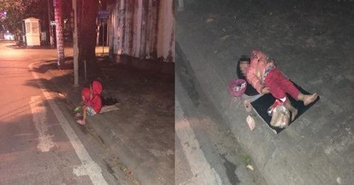 Xót xa hình ảnh bé gái nằm co ro trên vỉa hè đêm đông và câu chuyện đáng thương phía sau