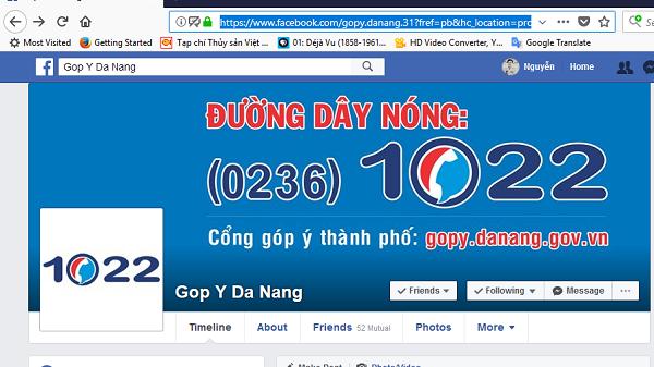 """Đà Nẵng: """"Đường dây nóng"""" lên mạng xã hội Facebook"""