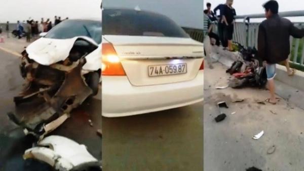 Ô tô đâm xe đạp điện trên cầu, nam sinh Quảng Trị rơi xuống sông tử vong