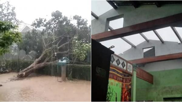 Quảng Trị: Hàng chục nhà dân tốc mái sau 30 phút mưa đá, lốc xoáy quét qua