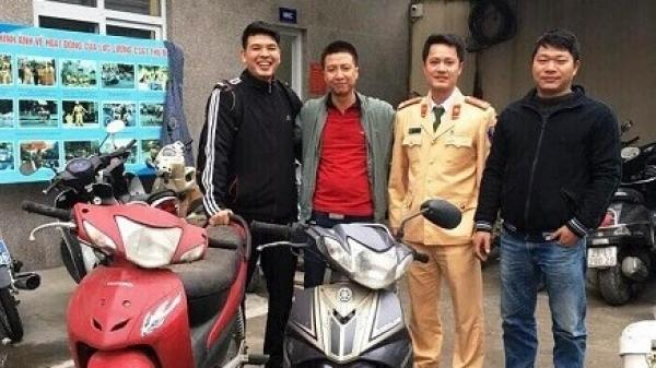 Từ Điện Biên xuống Hà Nội nhận lại xe máy bị mất