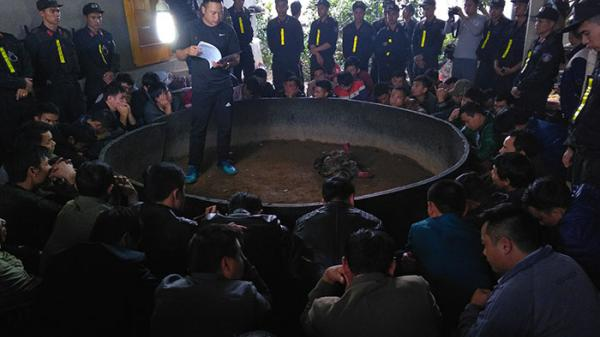 Hơn 100 cảnh sát triệt phá sới gà 'khủng' ở Điện Biên