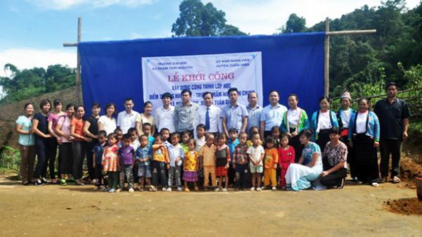 Trường Đại học Sư phạm Thái Nguyên xây tặng công trình lớp học cho huyện Tuần Giáo