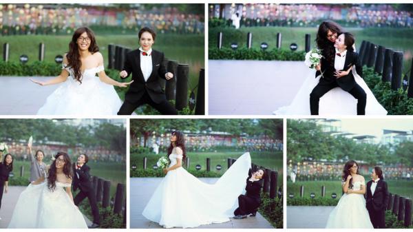 """Bộ ảnh cưới cực """"nhây"""", hoán đổi vị trí cô dâu, chú rể của 9x Điện Biên gây bão mạng xã hội"""