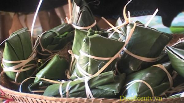 Độc đáo hương vị bánh chưng gù của người Thái Điện Biên