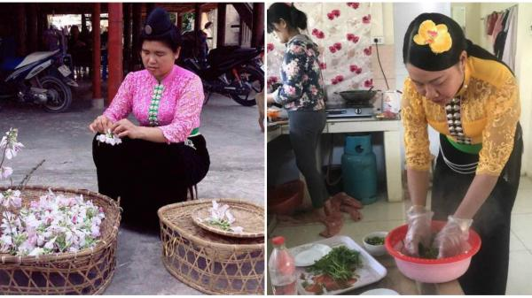 Độc đáo những món ăn Điện Biên từ hoa ban