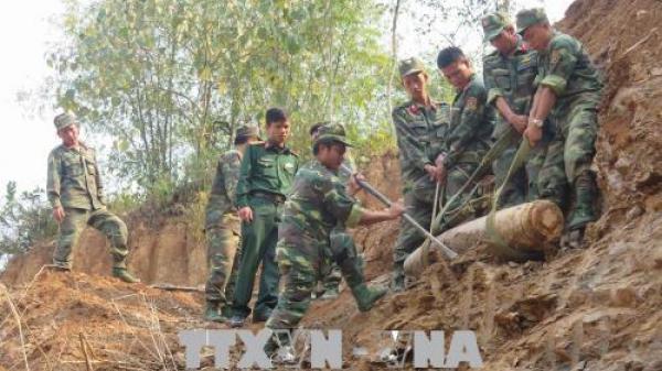 Phát hiện quả bom Mỹ nặng 150 kg tại thành phố Điện Biên Phủ