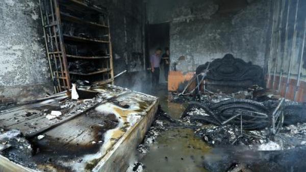 Cháy lớn xảy ra, một văn phòng luật sư bị thiêu rụi ở thành phố Điện Biên Phủ