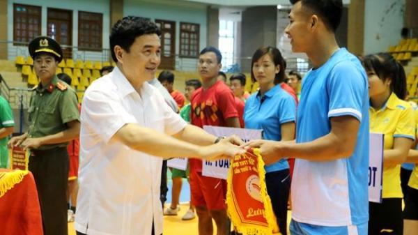 Điện Biên: Khai mạc giải Bóng đá, Bóng chuyền, môn thi đấu trước Đại hội TDTT tỉnh lần thứ X, năm 2018