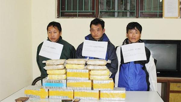 Điện Biên : Trong 3 tháng đầu năm bắt 59 vụ/80 đối tượng thu giữ hàng trăm bánh Heroin