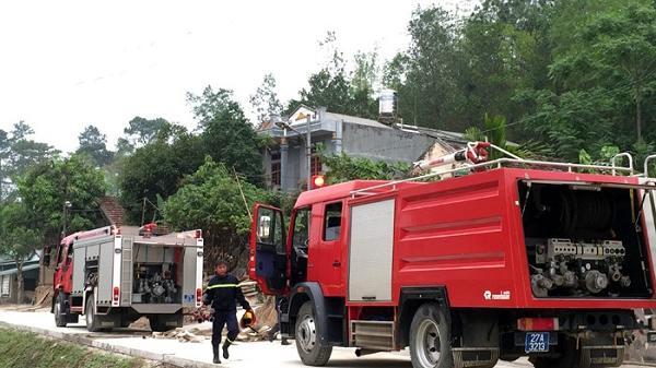 Cháy đồi tre khu vực tổ 6, phường Him Lam, TP. Điện Biên Phủ