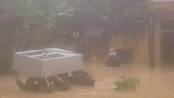 Mường Lói, Điện Biên: Nhiều nơi bị ngập sâu trong nước lũ