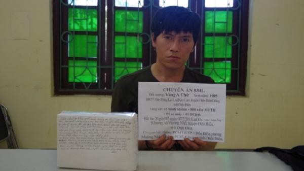 NÓNG: Bắt quả tang 1 đối tượng ở Điện Biên vận chuyển 2 bánh heroin, 800 viên ma túy tổng hợp