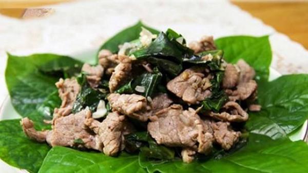 Cách làm món thịt trâu xào lá lốt thơm ngon đậm đà