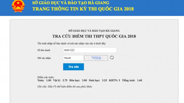 Sau khi có kết quả thẩm định, thí sinh từng đứng top ở Hà Giang từ 9 điểm Toán xuống 1 điểm liệt đã trượt tốt nghiệp
