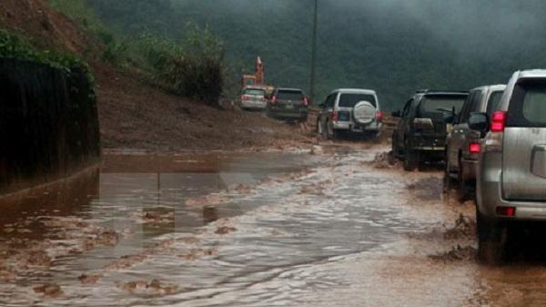 Điện Biên: Mưa rất to, xuất hiện lũ trên sông Nậm Nưa
