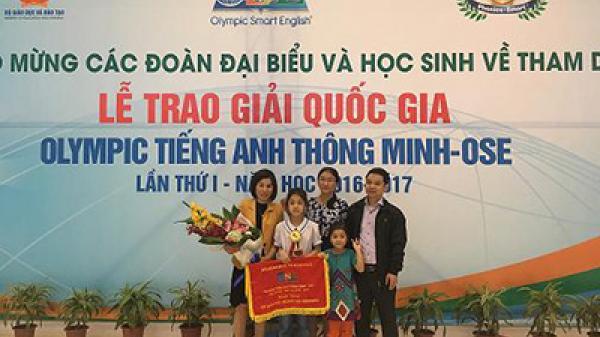 Điện Biên đạt 1 giải vàng cuộc thi Olympic Tiếng Anh thông minh trực tuyến cấp quốc gia