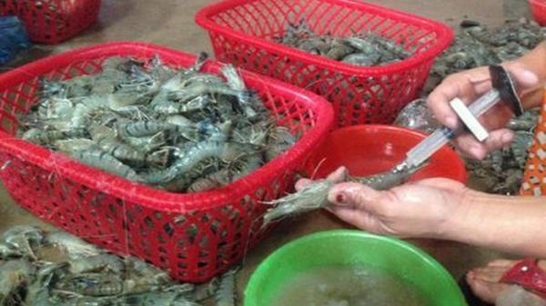 Điện Biên: Phấn đấu hết 2018, cơ bản không còn tình trạng đưa tạp chất vào tôm
