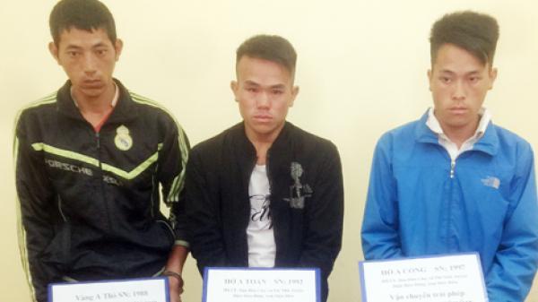 Ba anh em ở Điện Biên bị bắt cùng 9 bánh heroin trên xe khách