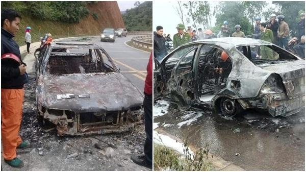 Điện Biên: Tiết lộ nguyên nhân xe ô tô ch.áy rụi khi đang lưu thông trên quốc lộ