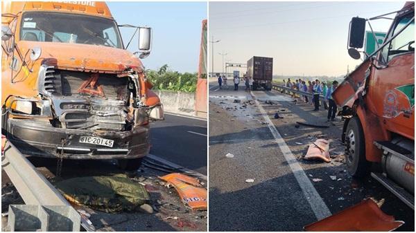 Ám ảnh hiện trường vụ tai nạn liên hoàn 3 xe container khiến người đàn ông Hải Dương t.ử v.ong