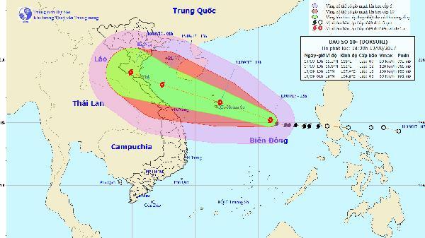 Tin bão số 10: Lần đầu tiên Việt Nam đưa ra mức cảnh báo Bão nguy hiểm cấp độ 4
