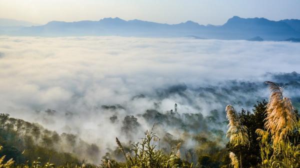 Ngắm nhìn biển mây thơ mộng trên đèo Tằng Quái - Điện Biên