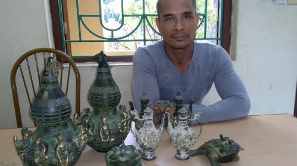 Nhóm đối tượng lừa bán đồ cổ giả bị bắt ở Điện Biên Phủ