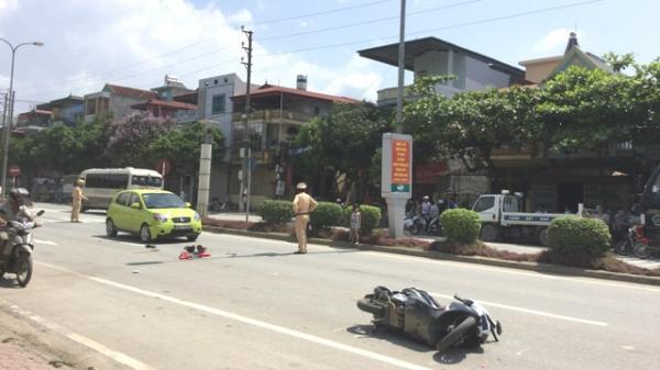 Điện Biên Phủ: Va chạm giao thông nghiêm trọng, 2 người bị thương