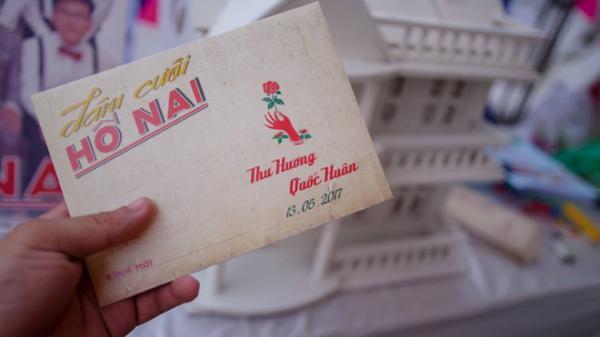 Thiệp cưới theo phong cách hoài cổ 'Cô Ba Sài Gòn'