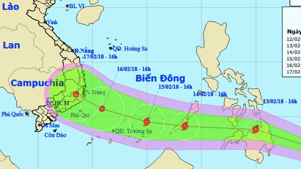 Dự báo thời tiết 13/2: Bão Sanba vào Biển Đông 30 Tết