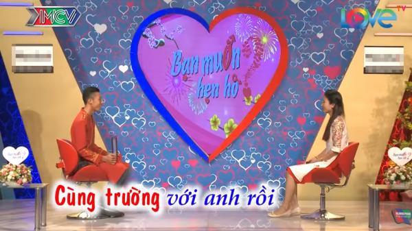 Cặp đôi học chung trường ở Biên Hòa bất ngờ nhận ra nhau khi tham gia 'Bạn muốn hẹn hò'