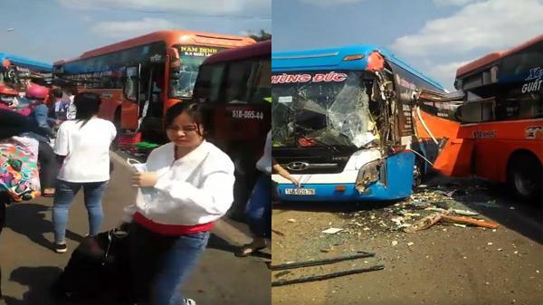 Đồng Nai: Tai nạn liên hoàn trên quốc lộ 1A, 3 xe khách bị hư hỏng nặng