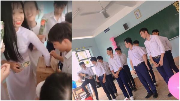 """Đồng Nai: """"Con trai lớp người ta"""" tổ chức tặng quà 8/3 cực vui cho bạn gái"""