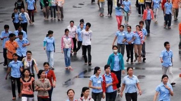 Công nhân Công ty Pouchen tại Đồng Nai đã trở lại làm việc