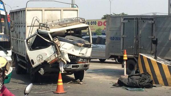 Ôtô đâm liên hoàn ở trạm BOT cầu Đồng Nai, nhân viên thu phí chạy tán loạn