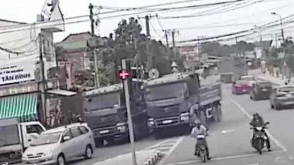 Đồng Nai: Ngỡ đường phố là trường đua, 2 chiếc xe ben đọ sức mạnh khiến người đi đường sợ hãi