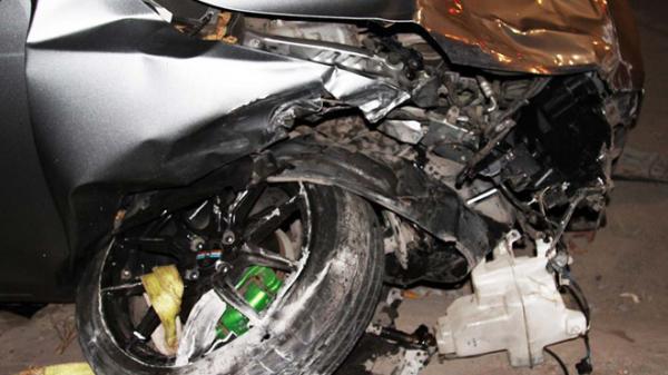 Đồng Nai: Ôtô tông hàng loạt xe máy, 5 người bị hất văng