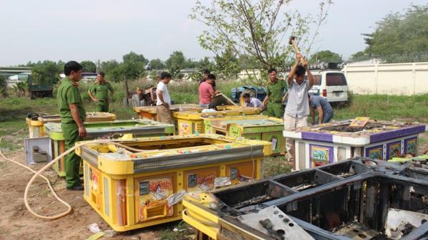 Công an huyện Long Thành tiêu hủy 11 máy game bắn cá