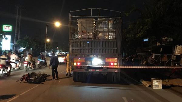 Xe máy đối đầu xe container, người đàn ông chết thảm