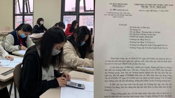 Sơn La thay đổi quyết định phút chót, cho học sinh tất cả các cấp nghỉ đến hết ngày 17/3