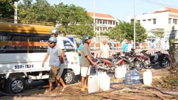 Khô hạn gay gắt, nông dân phải mua nước ngọt giá 300.000đ/m3