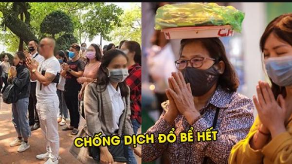 Công sức chống dịch 'đổ sông đổ biển' khi người dân chen lễ phủ Tây Hồ