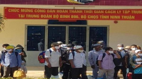 Ninh Thuận: 40 người kết thúc thời gian cách ly COVID-19