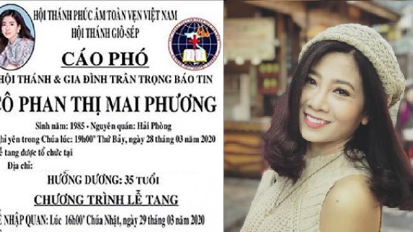 Thông tin tổ chức tang lễ từ gia đình Mai Phương: Lễ viếng riêng tư, mỗi lần không quá 10 người