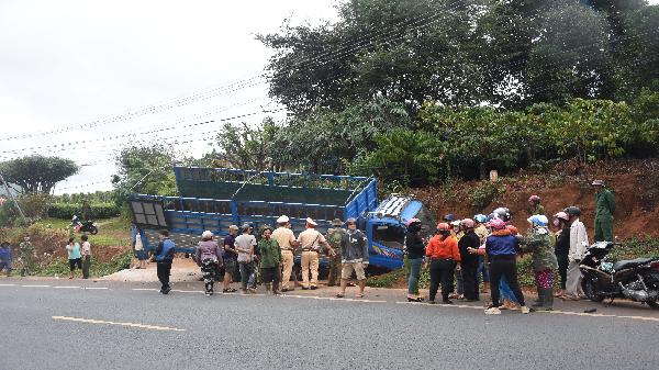 Gia Lai: Xe tải lấn làn gây tai nạn, 1 người tử vong tại chỗ