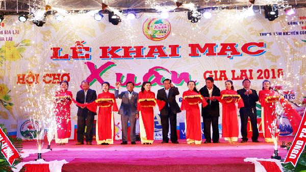TP. Pleiku: Khai mạc hội chợ xuân Gia Lai 2018