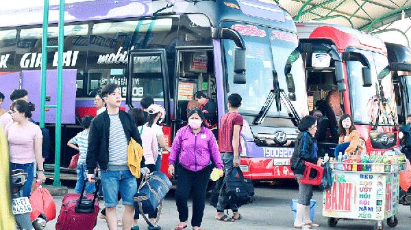 Vận tải hành khách dịp Tết: Phụ thu không quá 60% giá vé